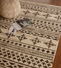 Naidroo Area Rug 91 x 63 Inch in Brown & Ivory by Amberville