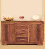 Nakshatra Side Board in Rich Honey Colour by Evok