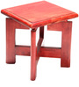 Nandana Stool in Red Colour by Furnicheer
