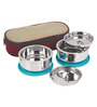 Nano 9 Insulated Stainless Steel 1.15 L Senior Lunch Box - Set of 2
