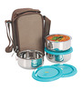 Nano 9 Insulated Stainless Steel 200 ML Junior Lunch Box - Set of 3