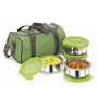 Nano 9 Stainless Steel Fruit and Salad 4-piece Lunch Pack with Insulated Bag