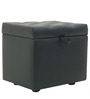 Nano Pouffe in Black Colour by Furnitech