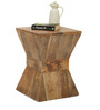 Naxos Solid Wood Stool in Natural Finish by TheArmchair