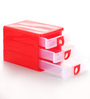 Nayasa Plastic Red 3 Drawers