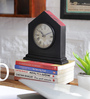 NB Home Interior  Multicolour Mango Wood 7.5 x 2.5 x 8 Inch Desk Clock