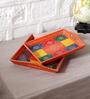 NB Home Interior Industry Multicolour MDF Decorative Tray