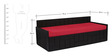 Nelson Sofa cum Bed with Four Pillows in Red Colour by Auspicious