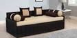 Nelson Sofa cum Bed with Two Pillows & Four Bolsters in Cream Color by Auspicious