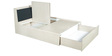 New Florid Pro King Bed with Storage in Linewood Finish by Godrej Interio