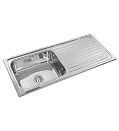 Neelkanth Pace Maker Glossy Stainless Steel Single Bowl Kitchen Sink With Drainer
