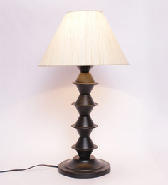 New Era Off-white Metal & Cotton Table Lamp