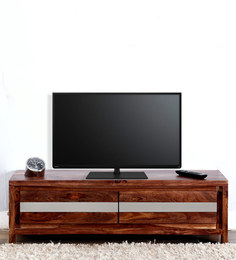 Newport Entertainment Unit In Warm Walnut Finish By Woodsworth