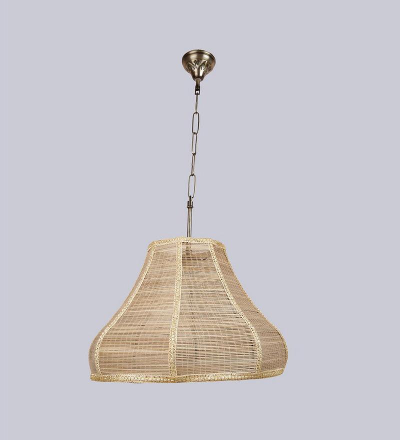 Hanging Japanese Lamp: New Era Japanese Bamboo Hanging Lamp By New Era Online