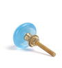 Neerja Turquoise Glass Door Knob - Set Of 6