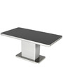 Neo Apple Six Seater Dining Table in Silver & Black Colour by Godrej Interio