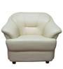 Neptune One Seater Sofa in Cream Colour by Elegant Furniture