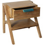Nest Bed Side Table in Light Teak Colour by DwellDuo