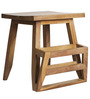 Nest Mag Stool in Light Teak Colour by DwellDuo