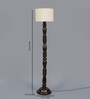 New Era Beige Cotton Floor Lamp
