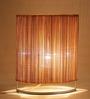 New Era Natural Wood Bamboo & Iron Table Lamp