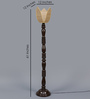 New Era Brown Bamboo Floor Lamp