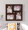 New Era Brown MDF & Mango Wood 15 x 0.5 x 15 Inch Collage Photo Frame - Set of 4