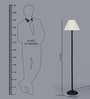New Era Off White Cotton Floor Lamp