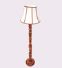 New Era Multicolour Wooden 14 x 14 x 59 Inch Floor Lamp