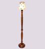 New Era Multicolour Wooden & Glass 11 x 11 x 58 Inch Floor Lamp
