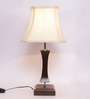New Era Off-white Wooden & Cotton Table Lamp