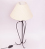 New Era Off-white Wrought Iron & Cotton Table Lamp