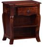 Leeming Bed Side Table in Honey Oak Finish by Amberville