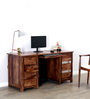 Newport Study Table in Warm Walnut Finish by Woodsworth