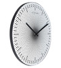 Nextime Black Plastic 15.5 x 1 Inch Dots Round Wall Clock