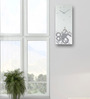 Nextime White Glass 27.6 x 11.8 Inch Wall Clock