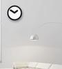 Nextime Black Plastic 9.7 Inch Round Focus Wall Clock