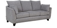 Nikole Three Seater Sofa in Silver Grey Colour by CasaCraft