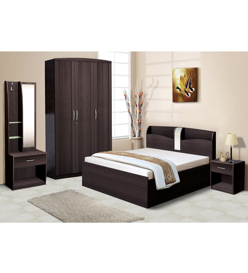 Nilkamal imperial wenge bedroom combo set 3 door wardrobe for 3 bedroom set