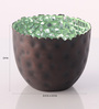 Ni Decor Black Metal & Glass Mosaic Tea Light Holder