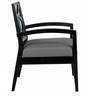 Nidia Arm Chair in Black and Paloma Finish by CasaCraft