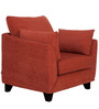 Nikole One Seater Sofa in Rust Colour by CasaCraft