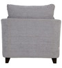 Nikole One Seater Sofa in Silver Grey Colour by CasaCraft