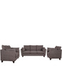 Nikole One Seater Sofa in Slate Grey Colour by CasaCraft