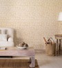 Nilaya by Asian Paints Cream & Off White on Taupe Textured Non-Woven Paper Sea Escape Coral Bay Wallpaper
