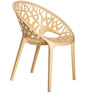 Crystal PP Chair in Beige Colour by Nilkamal