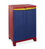 Nilkamal Freedom Small Cabinet in Red & Blue Colour by Nilkamal