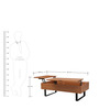 Nirvana Coffee Table with Storage in Walnut Finish Color by Gravity