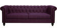 Noela Three Seater Sofa in Tyrian Purple Colour by CasaCraft