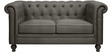 Noela Two Seater Sofa in Sterling Grey Colour by CasaCraft